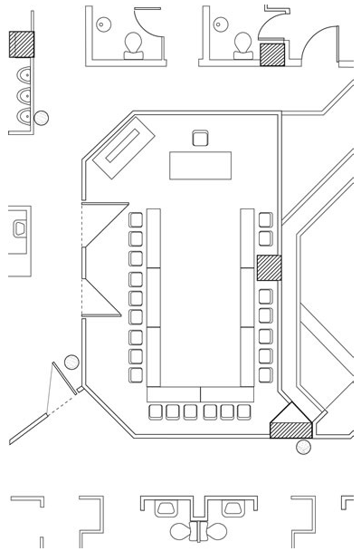 Event hall of ideon hotel floor plans for Banquet hall floor plans